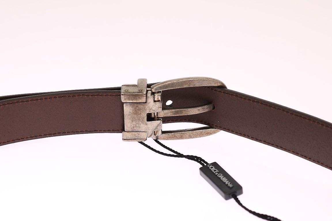 Red Stitched Leather Gold Buckle Belt