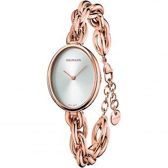 Calvin Klein K9Y23626 Statement Collection Rose Gold Tone Wristwatch