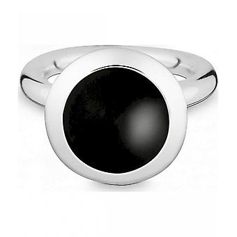 Quinn - Silver ring with onyx - 02189462