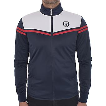 Sergio Tacchini Mens Zone Casual Zip Closure Tracksuit Top Jacket - Navy/White