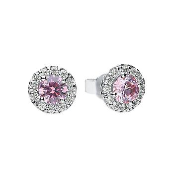 Diamonfire Dusky Pink Cubic Zirconia Pave Studs Earrings E5775