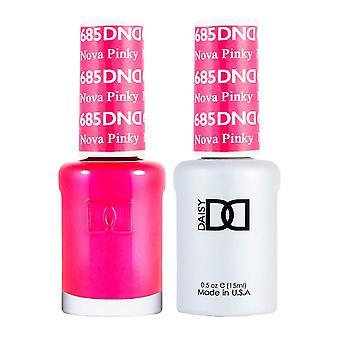 Dnd Duo Gel & Nail Polish Set - Nova Pinky 685 - 2x15ml