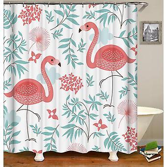 Refreshing Flamingos Shower Curtain