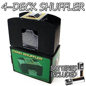 4 Deck spille kort shuffler m/batterier