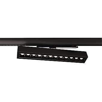 LED 3-fasen Rail Spotlight Ain 24-30W 4000K 34 ° draaibaar-draaibaar zwart