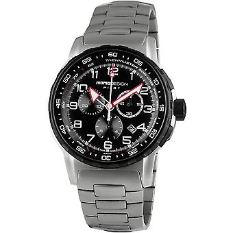 MOMO Design Pilot Watch MD2164SS-40 - Stainless Steel Gents Quartz Chronograph