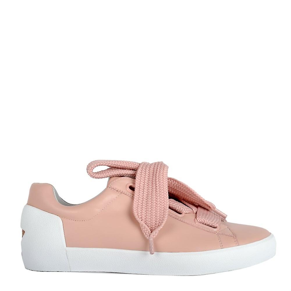 Ash NINA Trainers Nude Leather & Chunky Knit Lace DfkXd