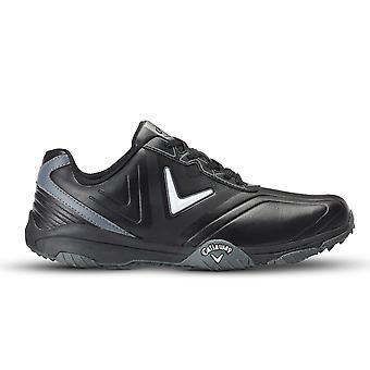 Callaway Golf Mens Chev Comfort Opti-Vent Waterproof Leather Golf Shoes