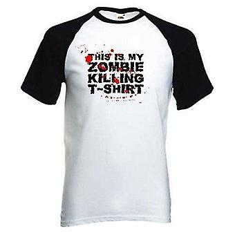 This is my zombie killing baseball t-shirt