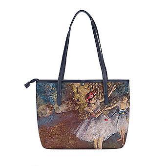 Edgar degas - ballerina shoulder tote bag by signare tapestry / coll-art-ed-blr-2