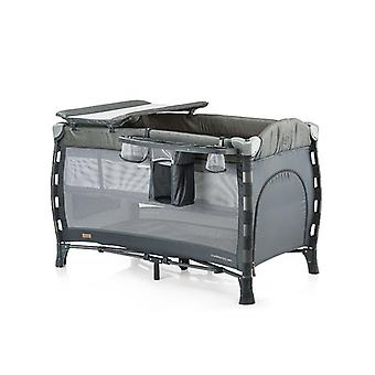 Chipolino travel cot Casablanca Neo 2018, wrapping pad, pockets, side entrance