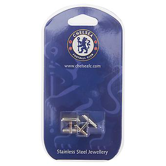 Chelsea FC Official Mens Stainless Steel Football Crest Cufflinks