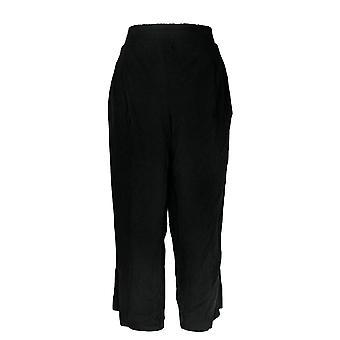 Anybody Women's Petite Pants Cozy Knit Black A347173