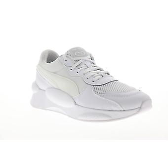 Puma RS 9.8 Core Herren weiß Mesh Canvas Schnürung Low Top Sneakers Schuhe