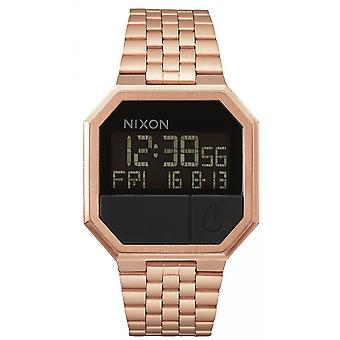 Nixon Watch A158-897 - Re-Run Dateur Steel Dor Rose Digital Display Man / Woman