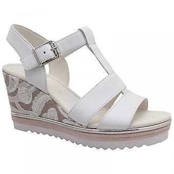 Gabor Rena T bar Wedge Sandal hvid