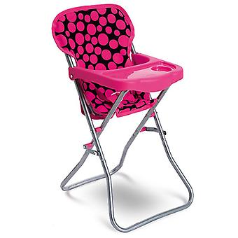 Moni doll high chair Yummy 9384S, seat belt, foldable, cup recess