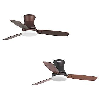 Ceiling Fan Tonsay Brown with Light and Remote