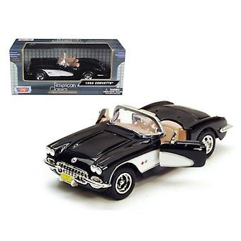 1959 Chevrolet Corvette Black 1/24 Diecast Model Car By Motormax
