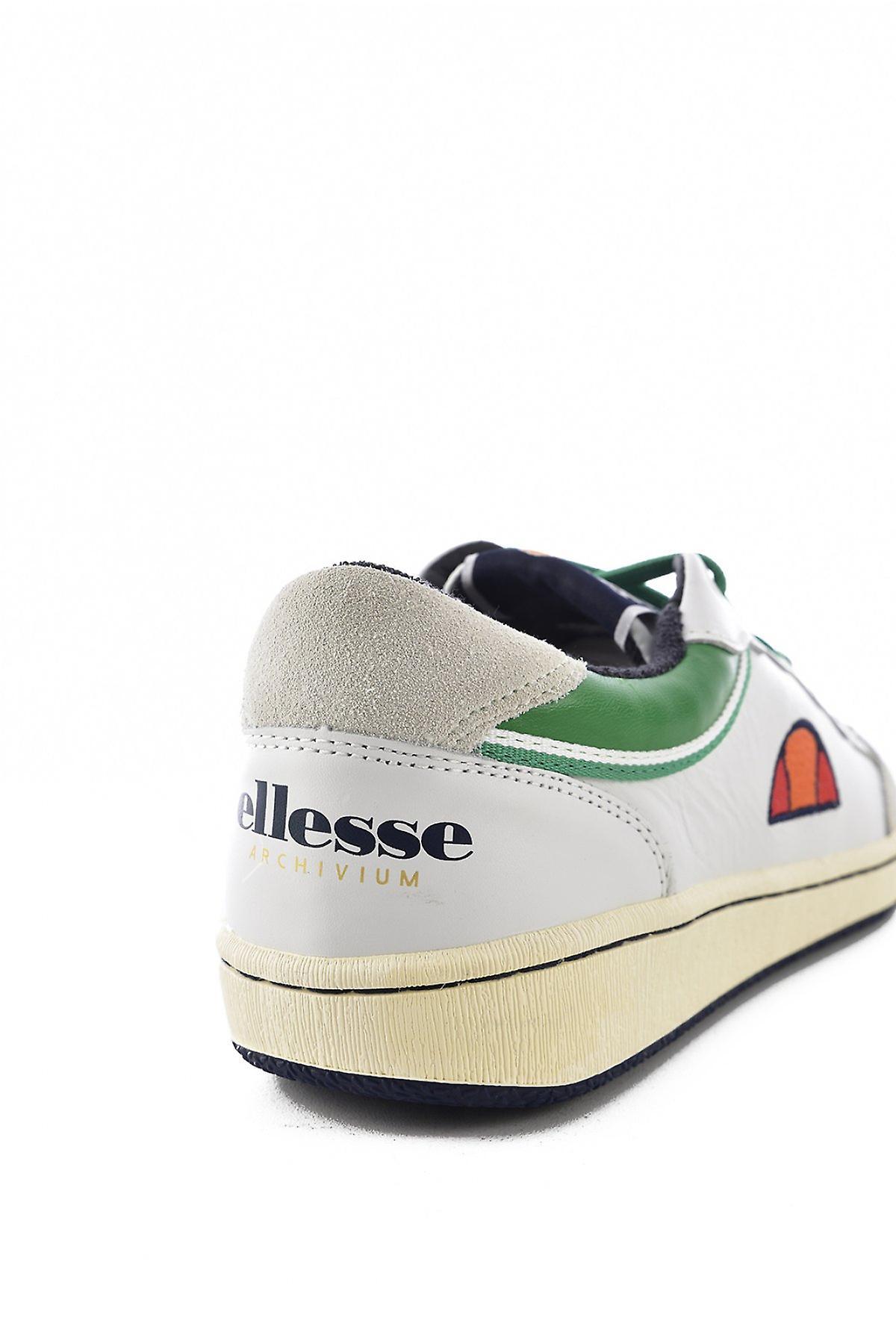 Sneakers Cuir Logo Brodé  -  Ellesse