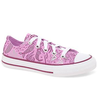 Converse All Star Youth Oxford Lace Mermaid Girls Canvas Shoes