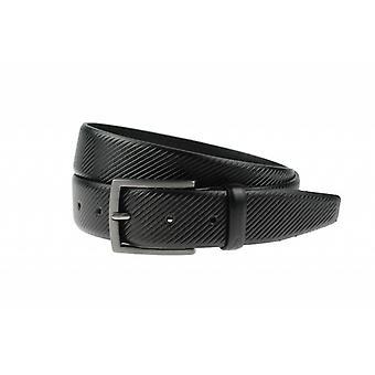 Elegante cintura di pantalon nero con striature striate Dessin