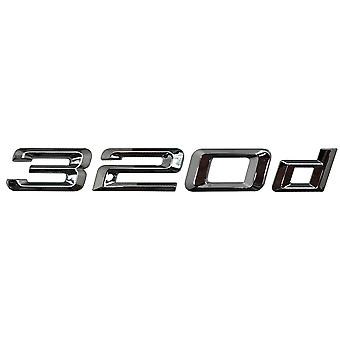Silver Chrome BMW 320d Car Badge Emblem Model Numbers Letters For 3 Series E36 E46 E90 E91 E92 E93 F30 F31 F34 G20