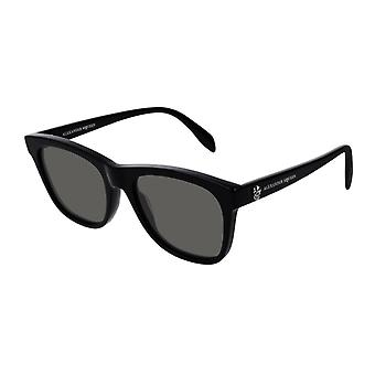 Alexander Mcqueen AM0158S 001 Black/Grey Sunglasses