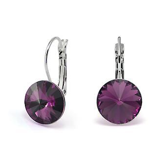 Crystal earrings Amethyst EMB 1.8