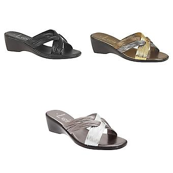 Lucia Womens/Ladies X Over Mule Sandals
