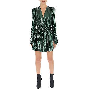 Amen Amw19417135 Damen's grün Polyester Kleid