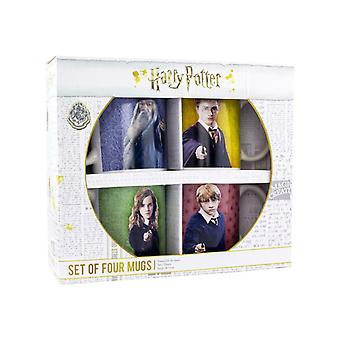 Set di 4 tazze fotografiche di Harry Potter, Harry Hermione Ron e Silente 330ml