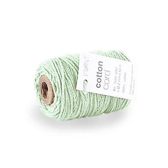 Vivant Cord Cotton fine mint green - 50m x 2mm