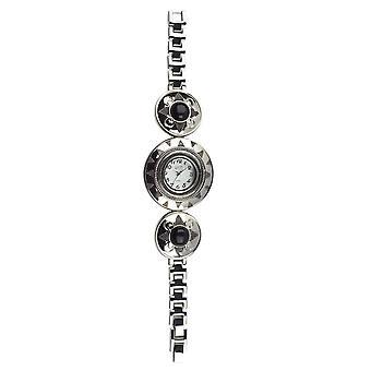 Eton Womens Bohemian style Watch, Black Stone Bracelet 2840J-BK