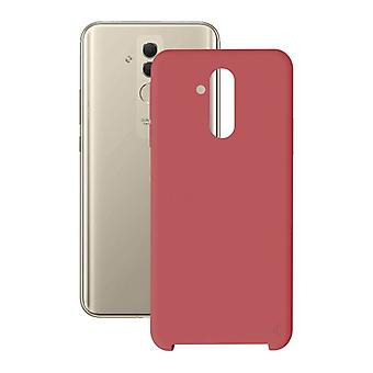 Couverture mobile Huawei Mate 20 Lite KSIX Soft Red