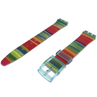 Authentic swatch watch strap multi colour strap 17mm for color the sky watch