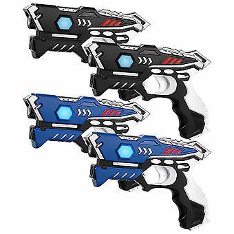 KidsFun Laser Spiel set 4 Laser Pistolen