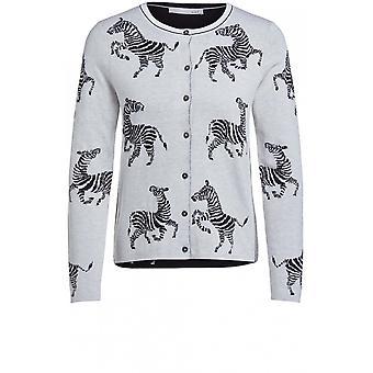Oui Zebra Design Cardigan