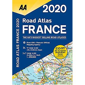 AA Road Atlas France 2020 - 9780749581404 Book