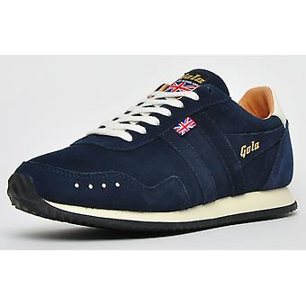 Gola Track Suede 317 Made In England 1905 Navy / Stone / Tan