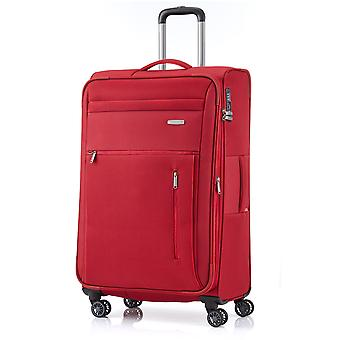 travelite Capri Trolley L, 4 rollos, 76 cm, 98 L, rojo