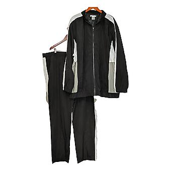 Mason Signature Men's Big & Tall Windbreaker Track Set Black