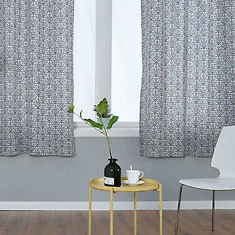 YANGFAN Blue And White Porcelain Printing Curtains For Bedroom