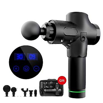 Massage gun cordless percussion massager - quiet powerful 6 massage heads - provides full body relief for muscle ache pain tension