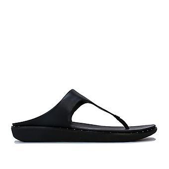 Women's Fit Flop Banda II Toe Thong Sandals in Black