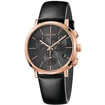 Calvin Klein K8Q376C3 Posh Chronograph Quartz Dark Grey Dial Men's Watch