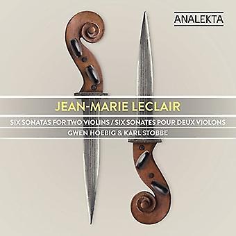 Leclair / Hoebig / Stobbe - Six Sonatas for Two Violins [CD] USA import