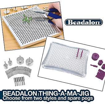 Beadalon Thing-a-ma-jig Wire Wrapper CHOOSE from Boards OR Extra Pegs