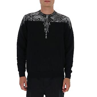 Marcelo Burlon Cmba009e20fle021007 Men's Black Cotton Sweatshirt
