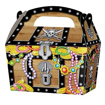 10 Pirate Chest Card Party Food or Treat Box